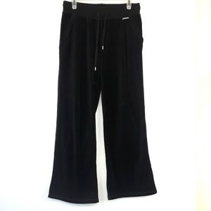Micheal Kors Black Velour Jogging Pants